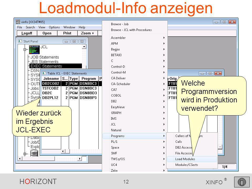Loadmodul-Info anzeigen