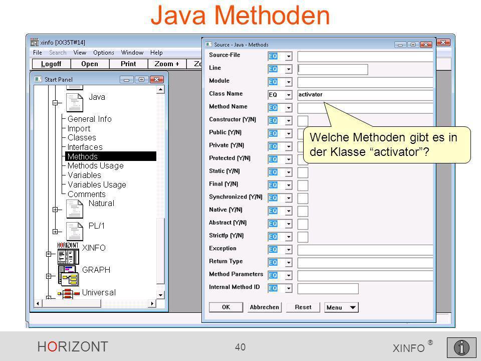 Java Methoden Welche Methoden gibt es in der Klasse activator