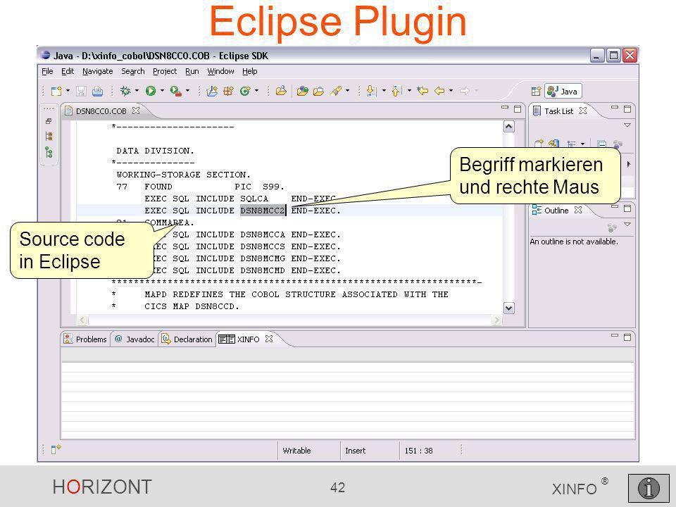 Eclipse Plugin Begriff markieren und rechte Maus