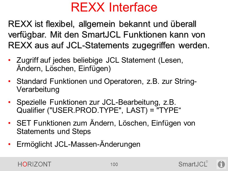 REXX Interface