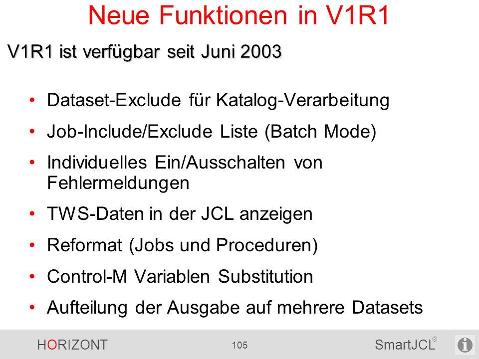 Neue Funktionen in V1R1 V1R1 ist verfügbar seit Juni 2003