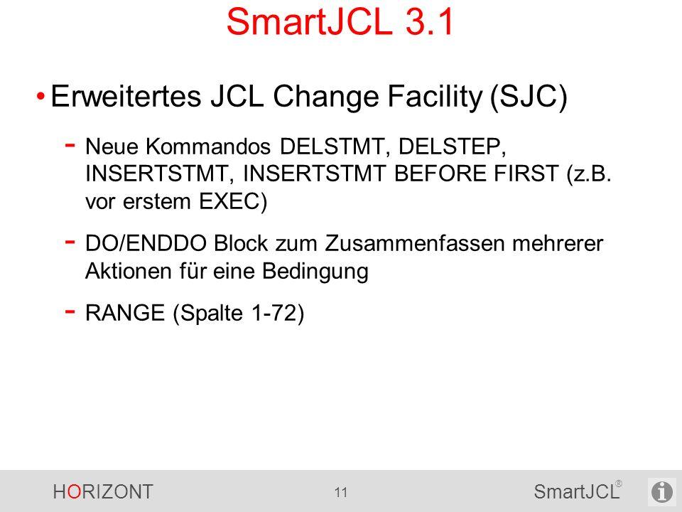 SmartJCL 3.1 Erweitertes JCL Change Facility (SJC)