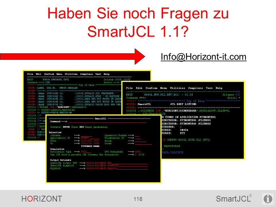 Haben Sie noch Fragen zu SmartJCL 1.1