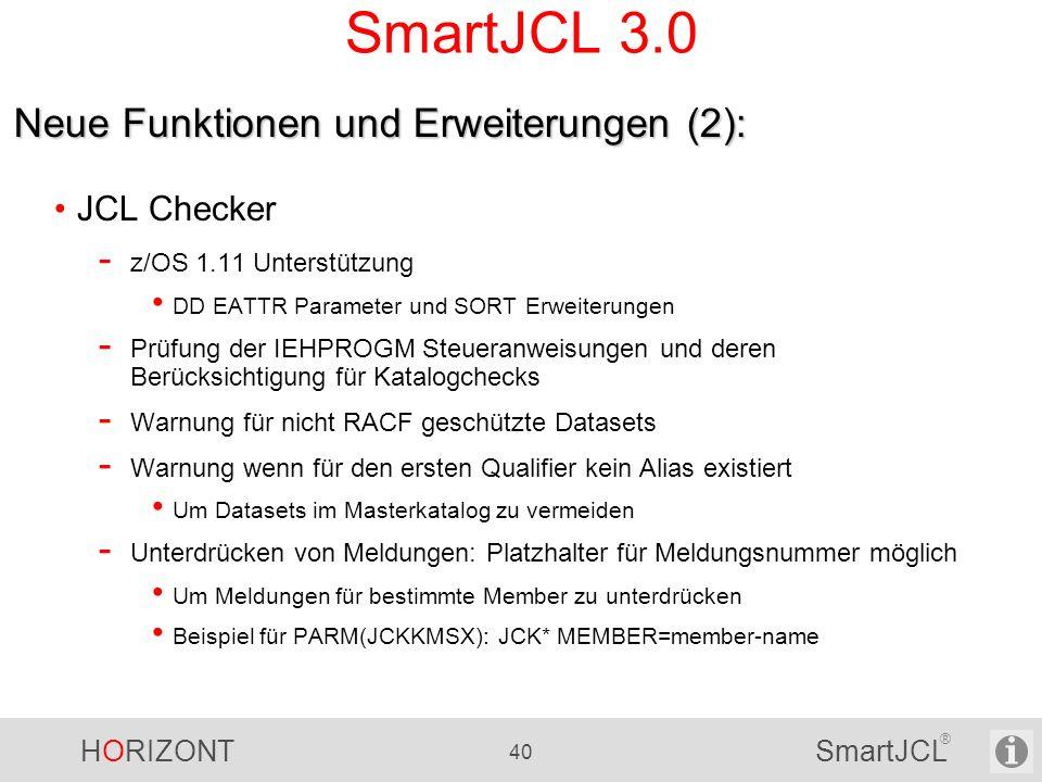 SmartJCL 3.0 Neue Funktionen und Erweiterungen (2): JCL Checker