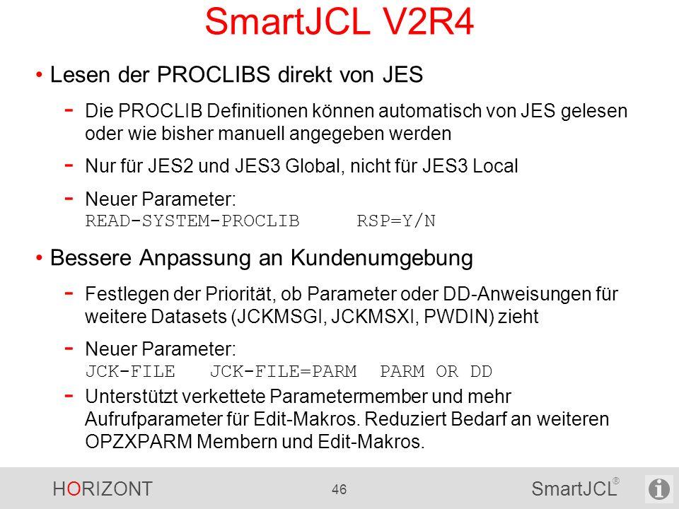 SmartJCL V2R4 Lesen der PROCLIBS direkt von JES
