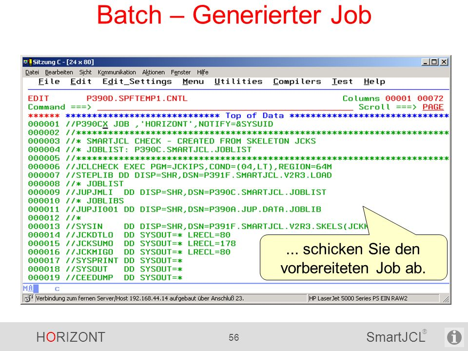 Batch – Generierter Job