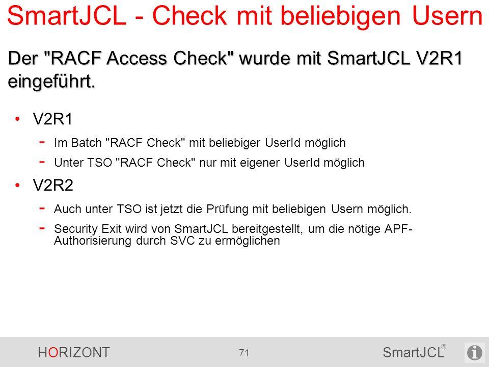SmartJCL - Check mit beliebigen Usern