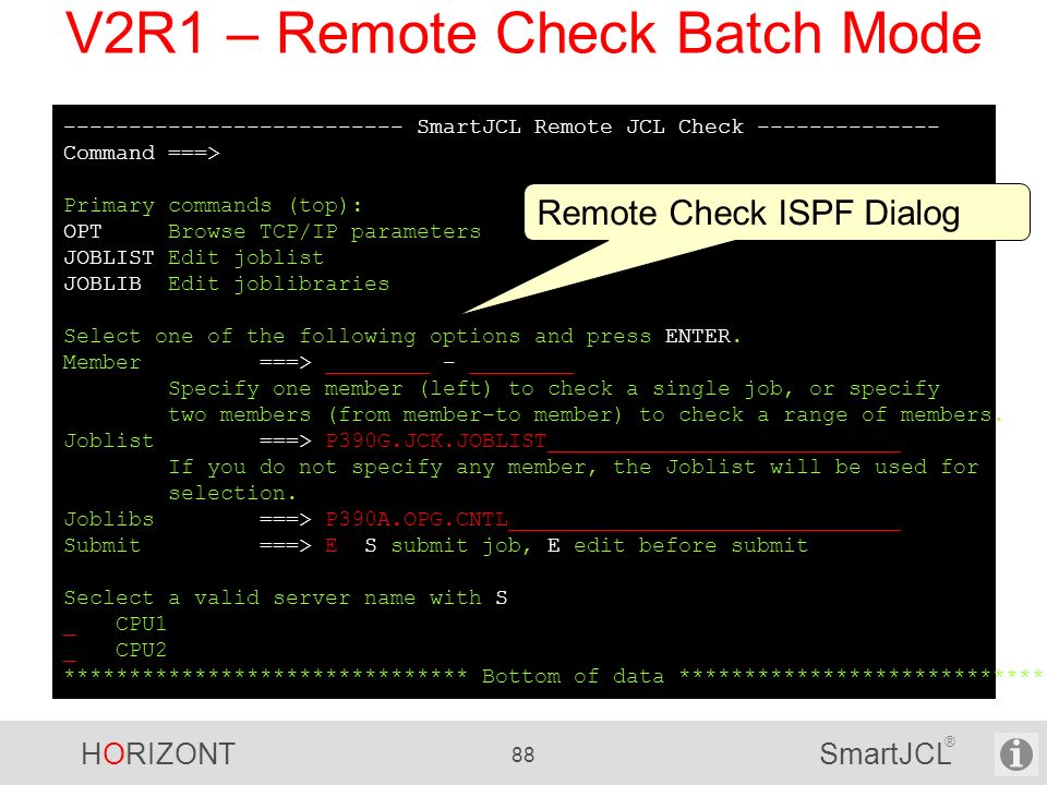 V2R1 – Remote Check Batch Mode