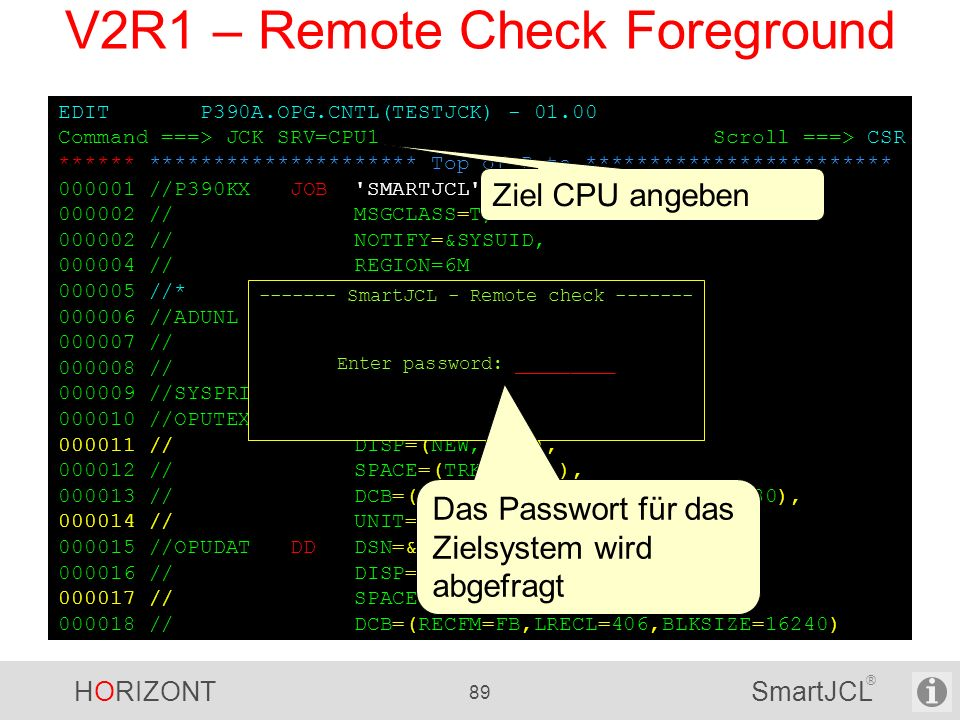 V2R1 – Remote Check Foreground