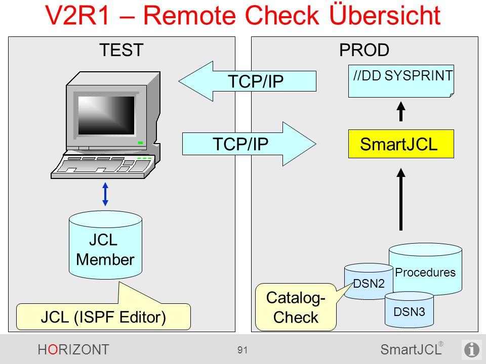 V2R1 – Remote Check Übersicht
