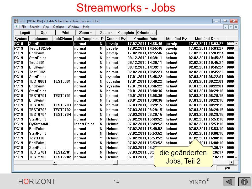 die geänderten Jobs, Teil 2