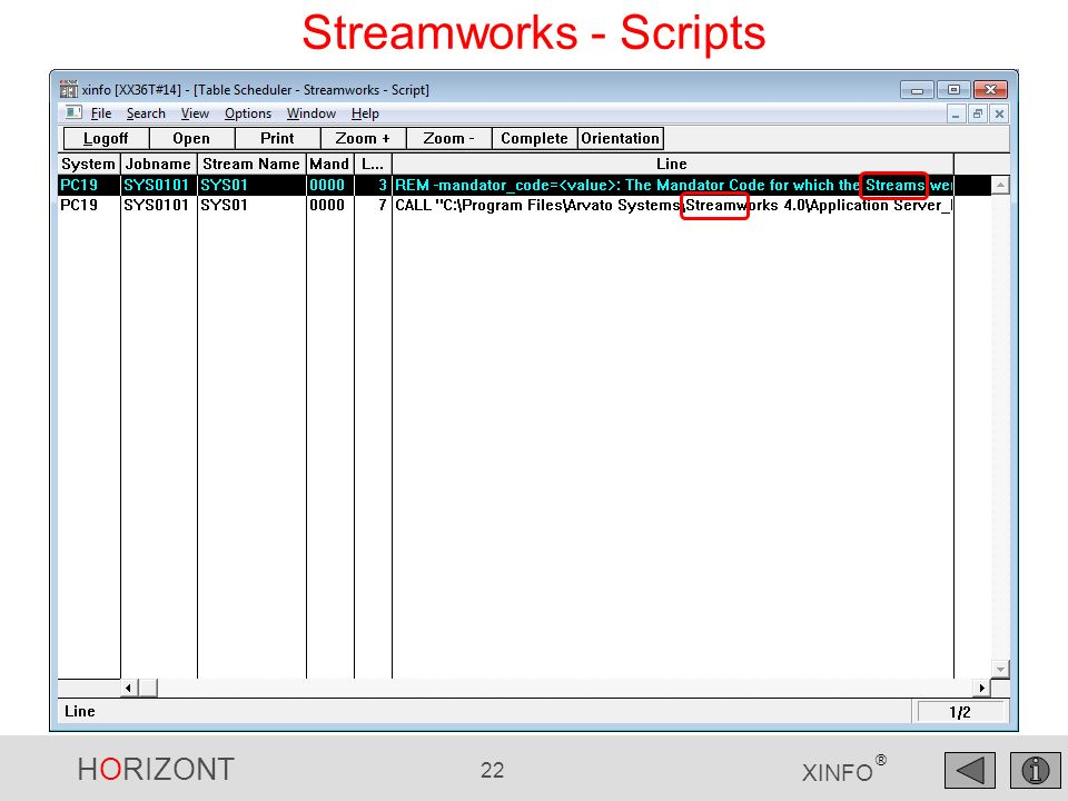 Streamworks - Scripts