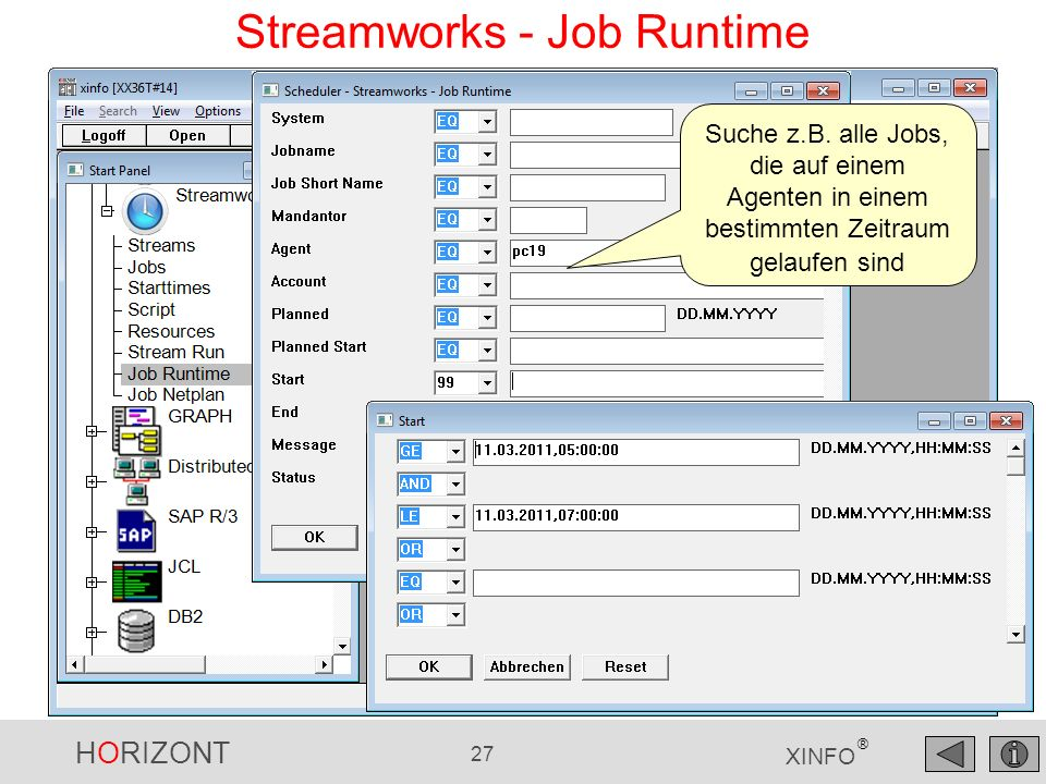 Streamworks - Job Runtime