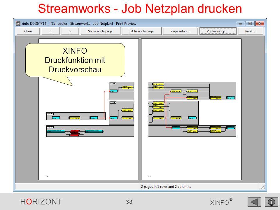 Streamworks - Job Netzplan drucken