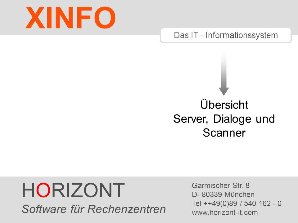 XINFO HORIZONT Übersicht Server, Dialoge und Scanner