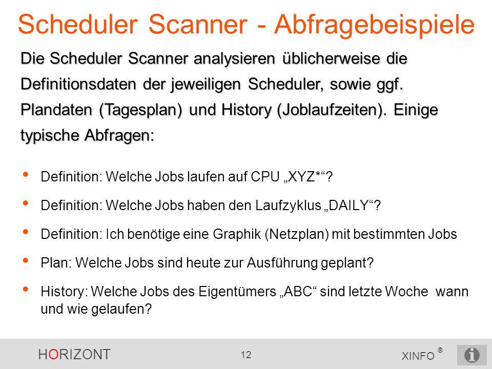 Scheduler Scanner - Abfragebeispiele