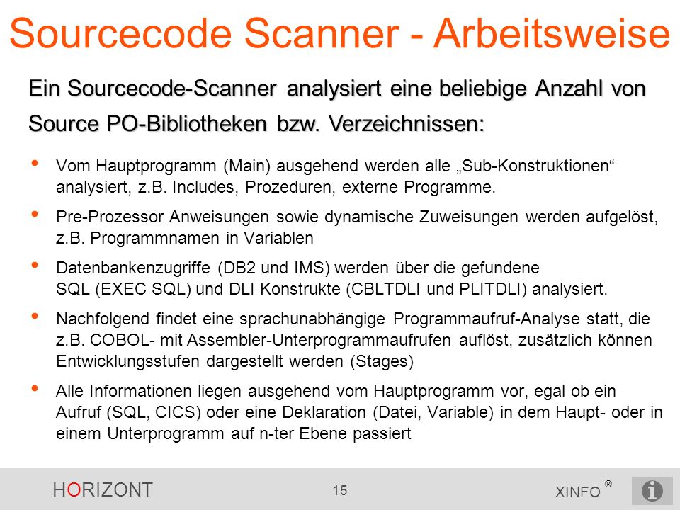 Sourcecode Scanner - Arbeitsweise