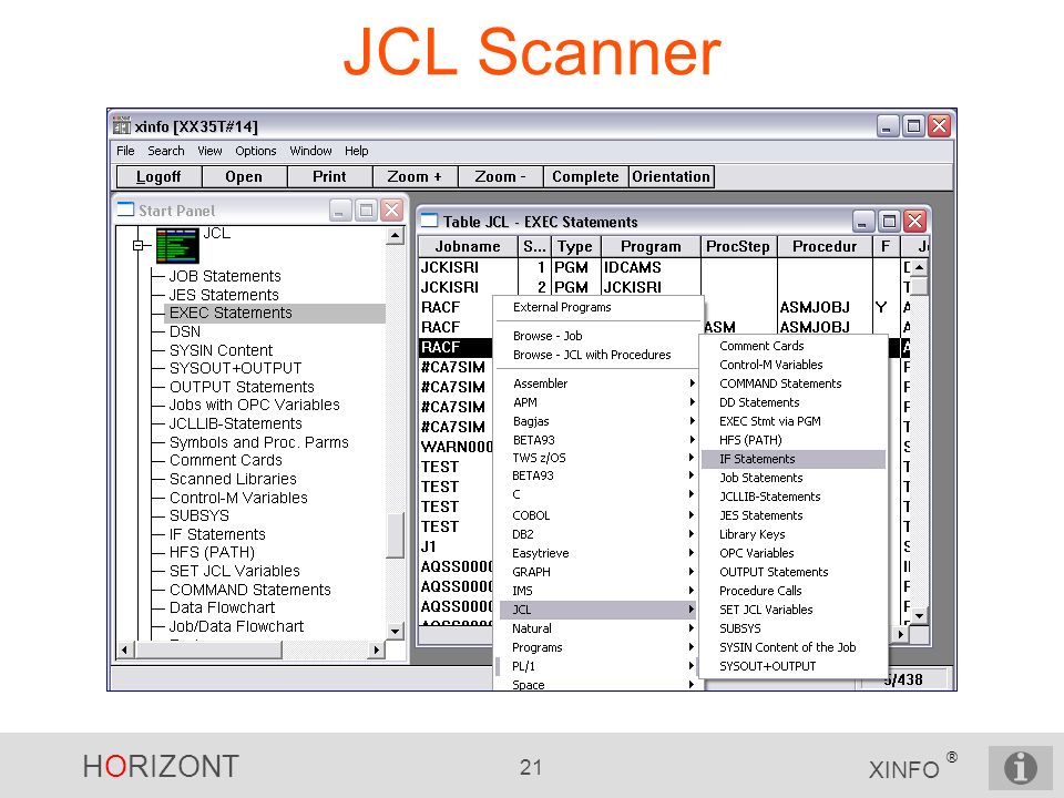 JCL Scanner