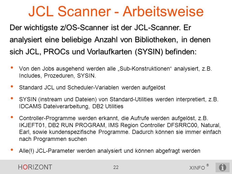 JCL Scanner - Arbeitsweise