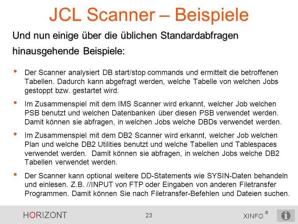JCL Scanner – Beispiele