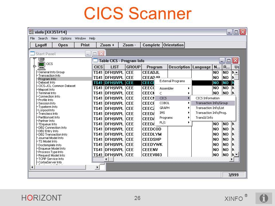 CICS Scanner