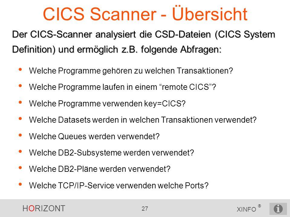 CICS Scanner - Übersicht