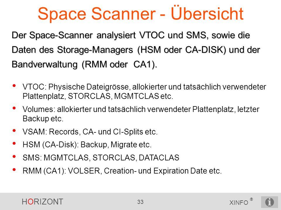 Space Scanner - Übersicht