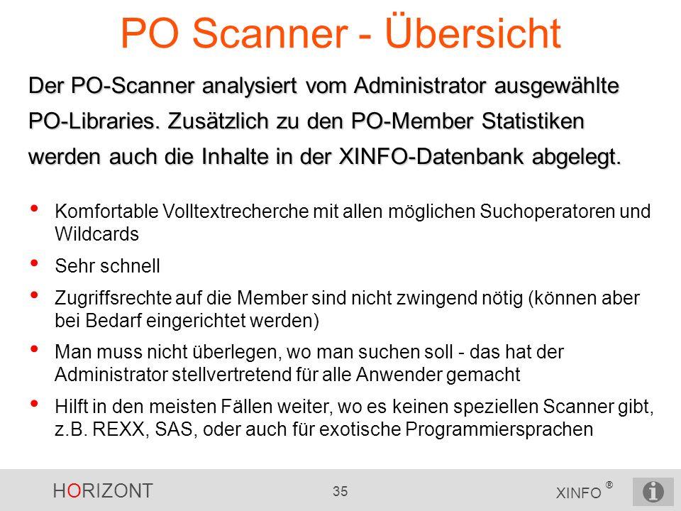 PO Scanner - Übersicht