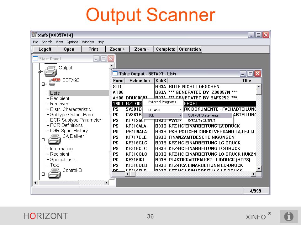 Output Scanner