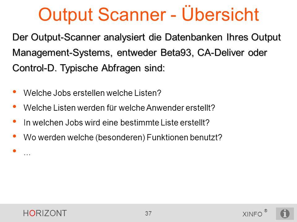 Output Scanner - Übersicht