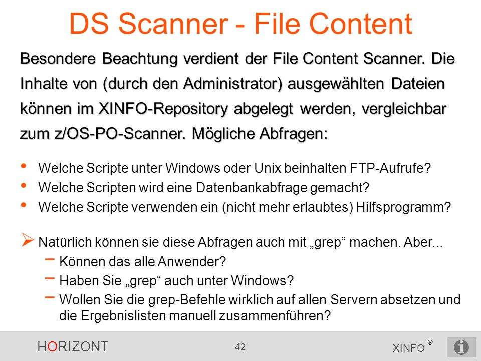DS Scanner - File Content