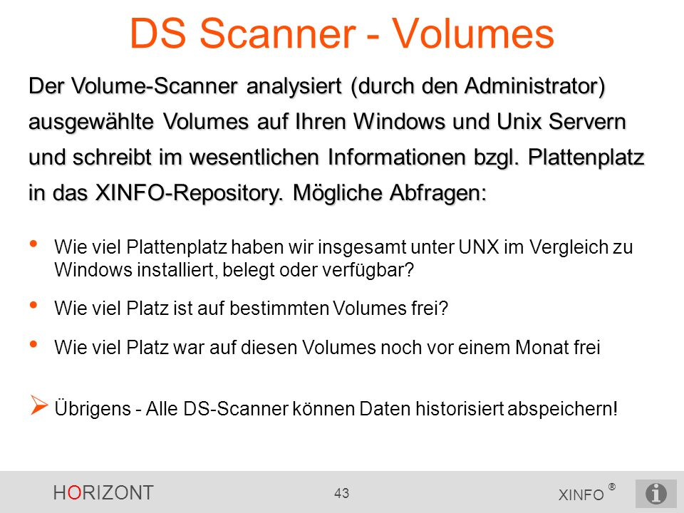 DS Scanner - Volumes