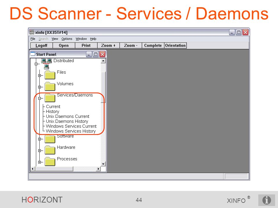 DS Scanner - Services / Daemons