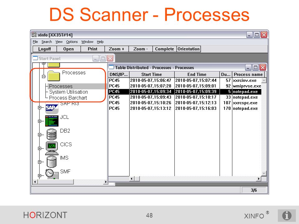 DS Scanner - Processes