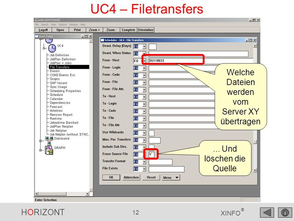 Welche Dateien werden vom Server XY übertragen