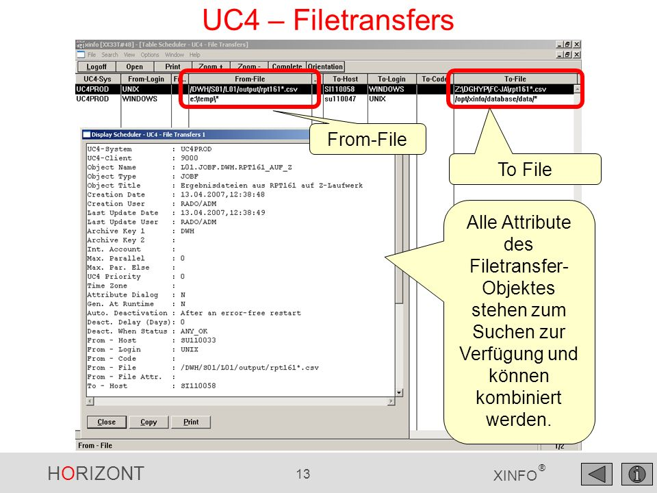 UC4 – Filetransfers From-File To File
