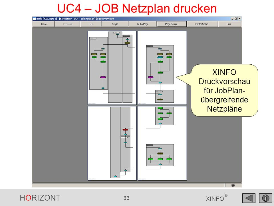UC4 – JOB Netzplan drucken