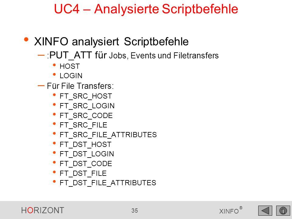 UC4 – Analysierte Scriptbefehle