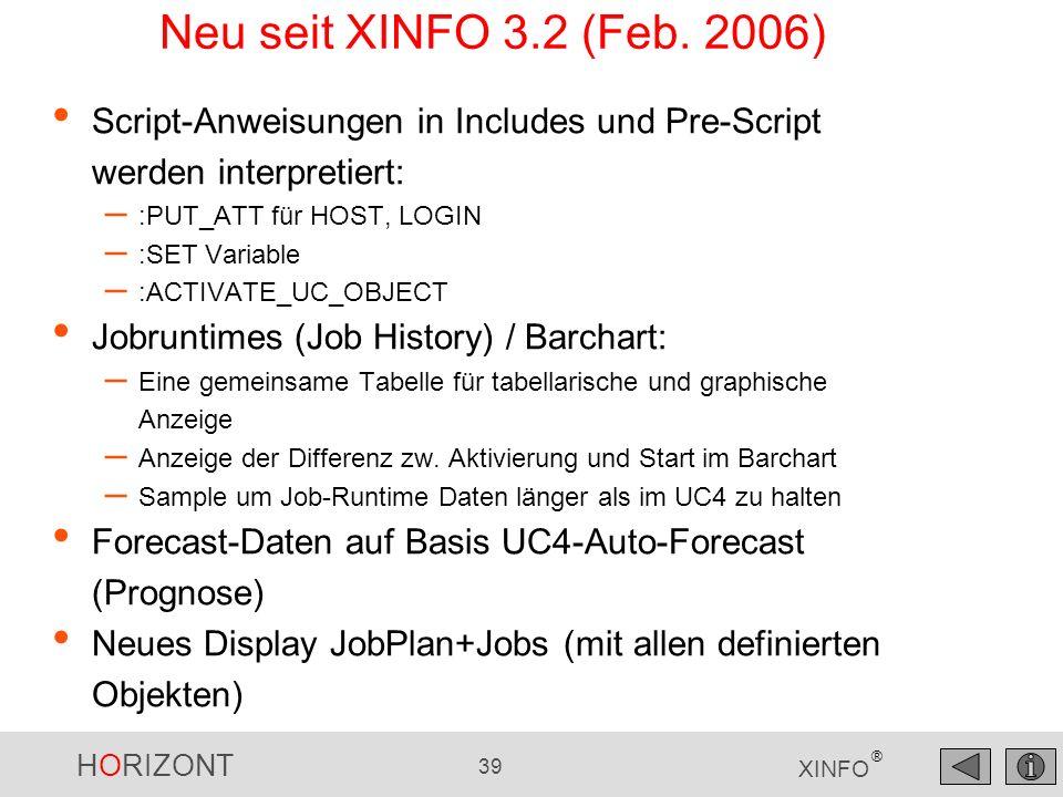 Neu seit XINFO 3.2 (Feb. 2006) Script-Anweisungen in Includes und Pre-Script werden interpretiert: :PUT_ATT für HOST, LOGIN.