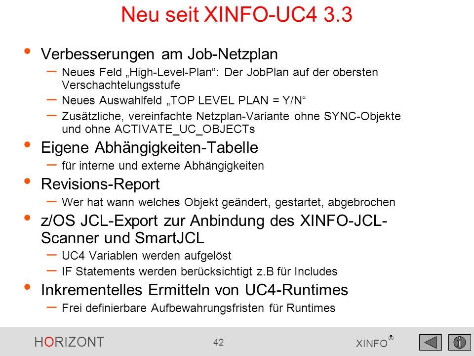 Neu seit XINFO-UC4 3.3 Verbesserungen am Job-Netzplan