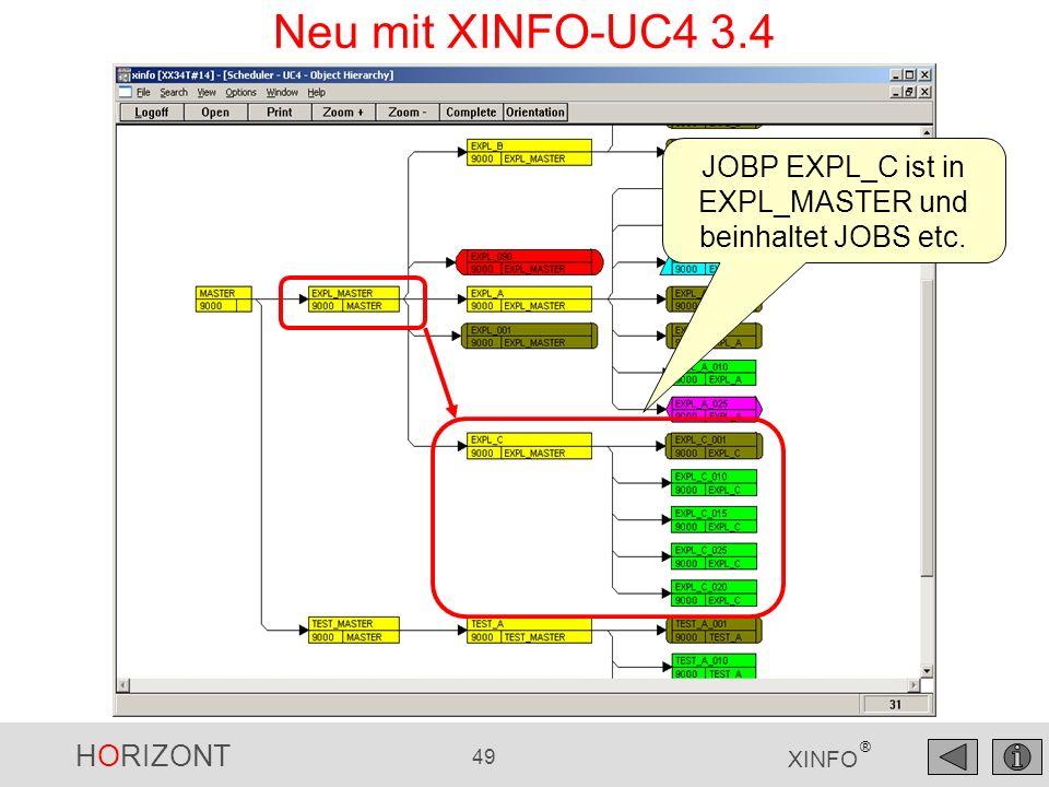 JOBP EXPL_C ist in EXPL_MASTER und beinhaltet JOBS etc.
