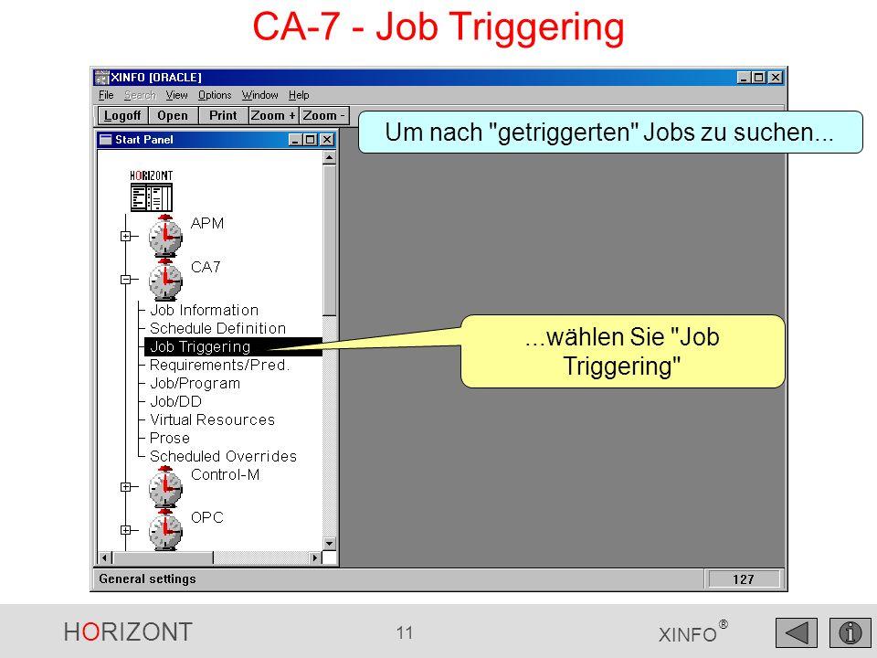 CA-7 - Job Triggering Um nach getriggerten Jobs zu suchen...
