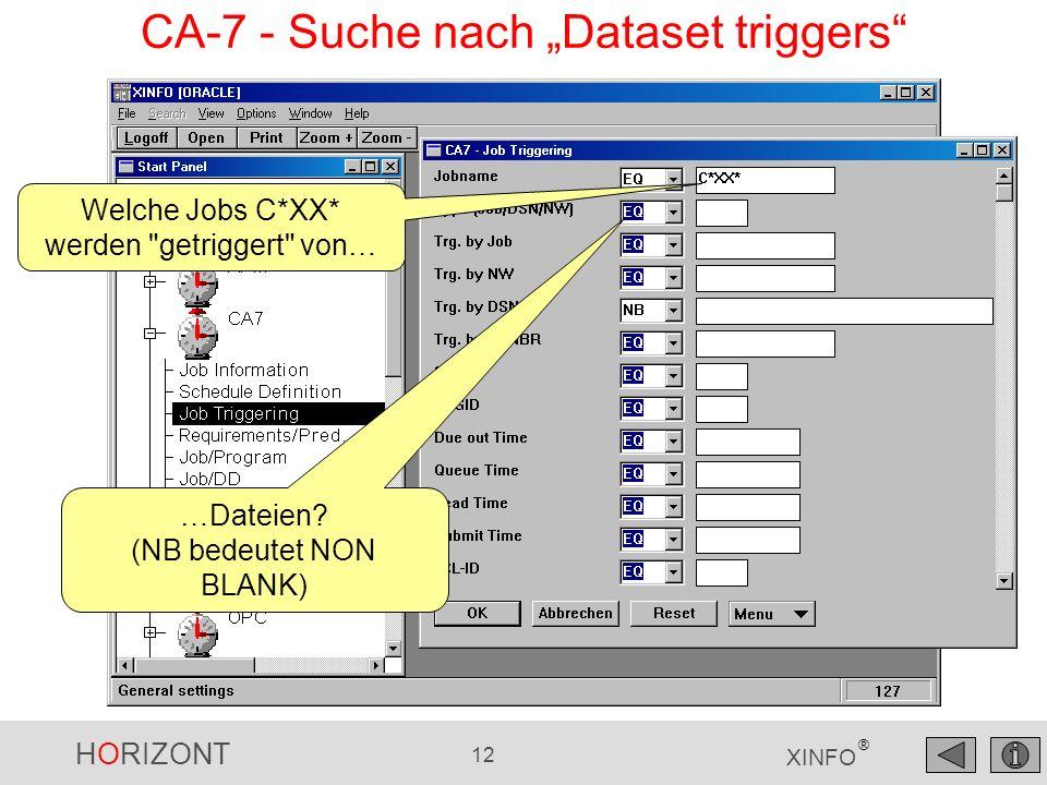 """CA-7 - Suche nach """"Dataset triggers"""