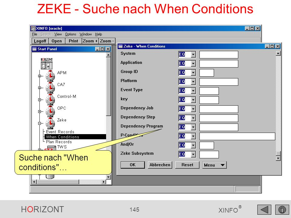 ZEKE - Suche nach When Conditions
