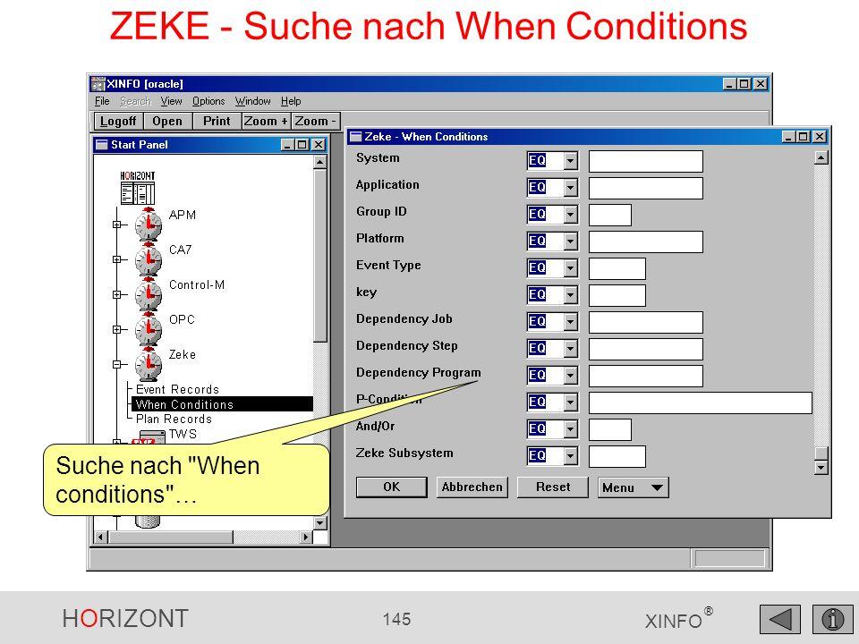 ZEKE - Suche nach When Conditions