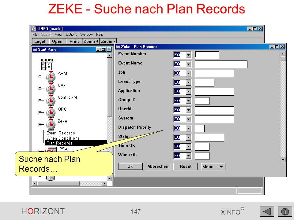 ZEKE - Suche nach Plan Records