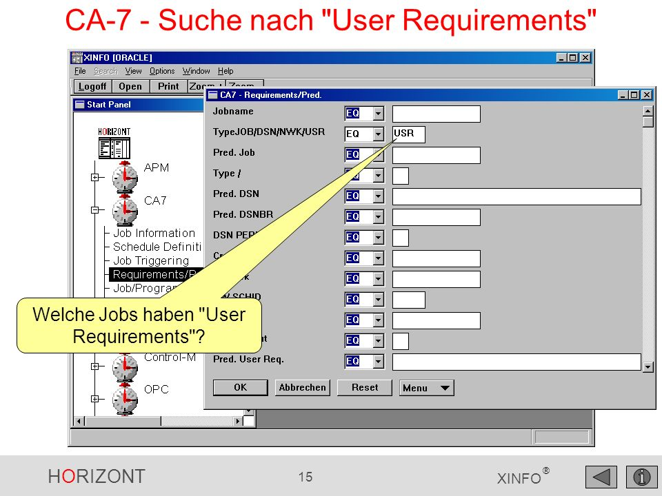 CA-7 - Suche nach User Requirements
