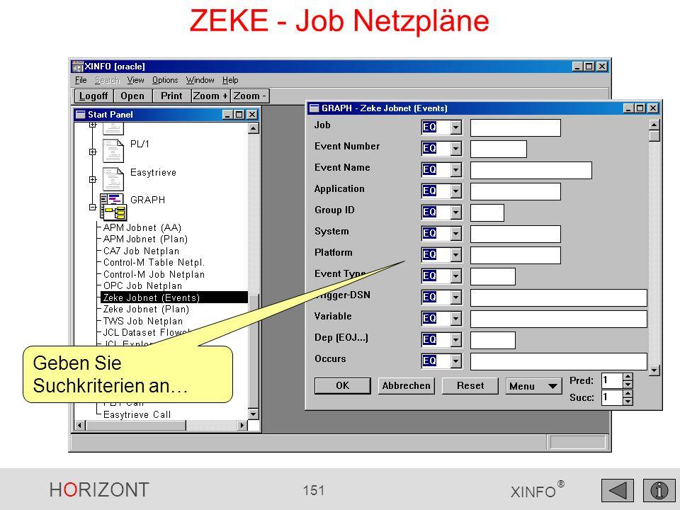 ZEKE - Job Netzpläne Geben Sie Suchkriterien an…