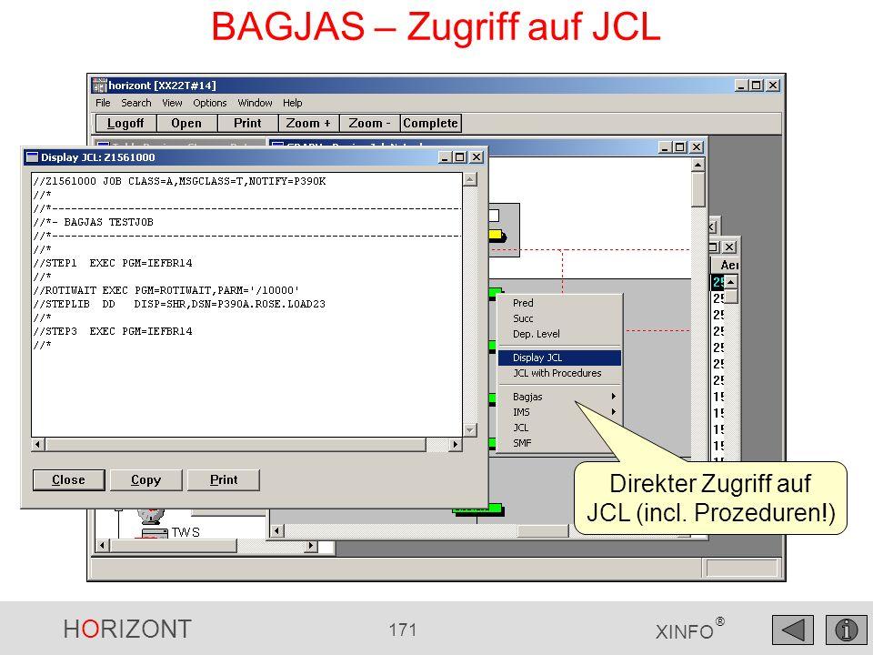 BAGJAS – Zugriff auf JCL