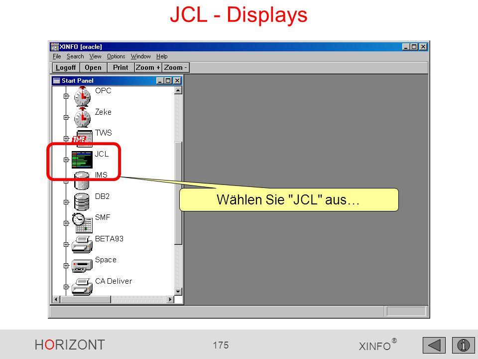 JCL - Displays Wählen Sie JCL aus…